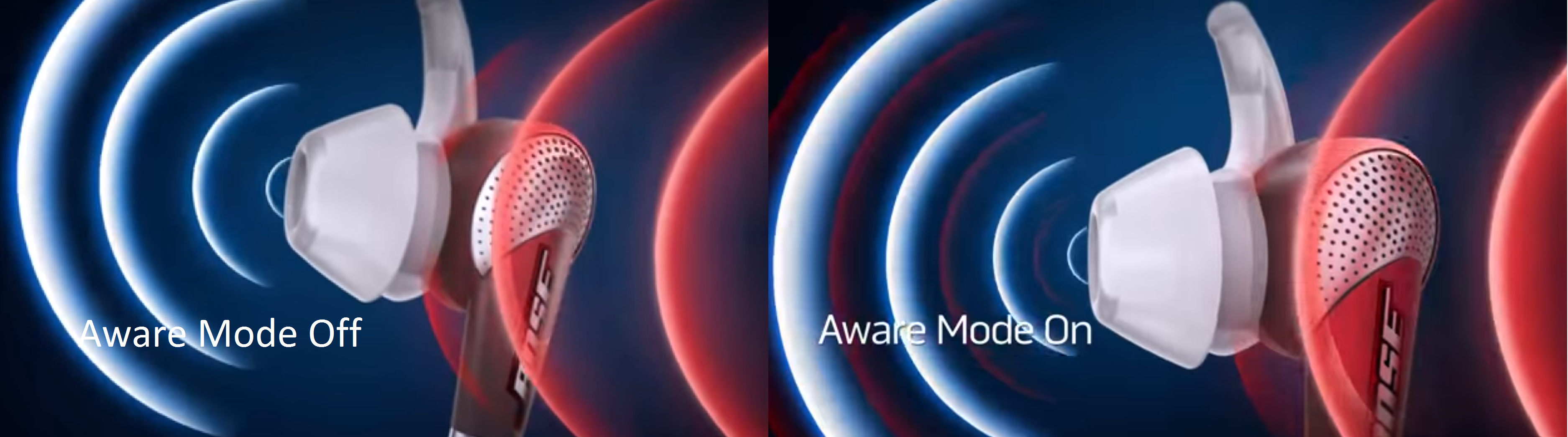 Aware mode once turned on will let users hear outside world around