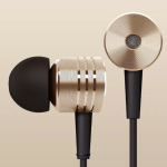 Solidly built bass in ear headphones with open vent on the back