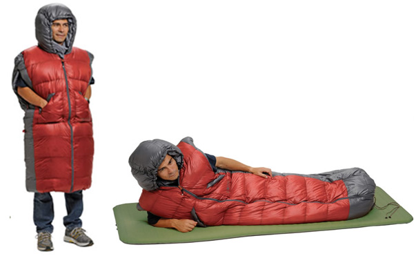 Camping wearable bag for sleeping
