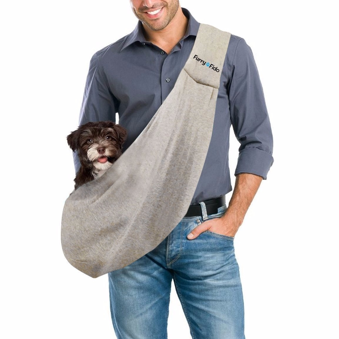 It is a bag for your dogs rather than a true wearable