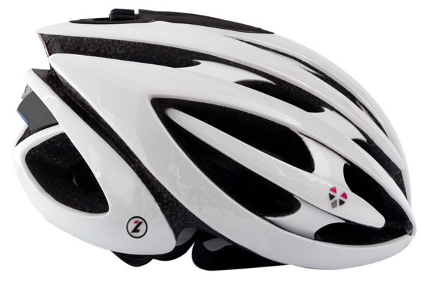 Heart rate monitor smart bike helmet