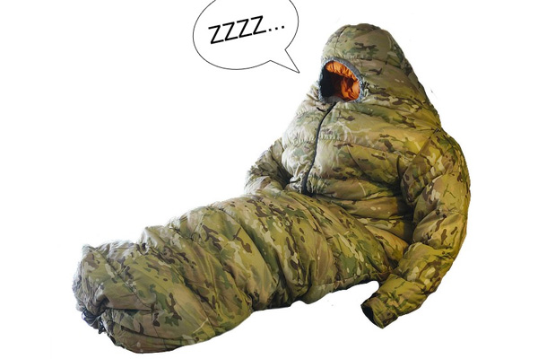 A combination of sleeping bag and wearable capacity