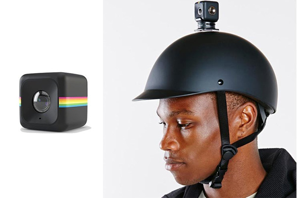 Polaroid Cube HD wearable camera on your helmet