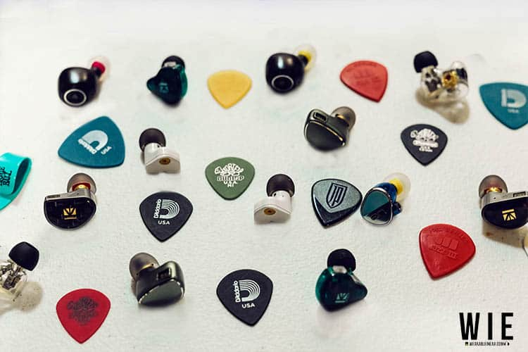 IEM collection and guitar picks