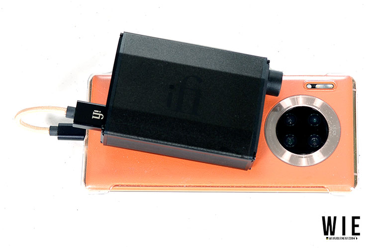 iFi Nano BL stacked with smartphone
