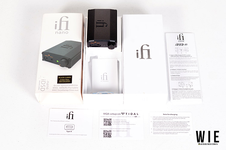 ifi nano bl packaging and accessories