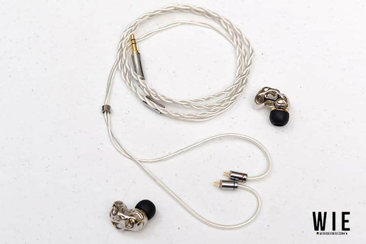 WGZBLON in ear with detached cable